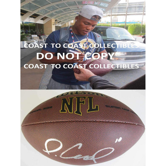 Pharoh Cooper, Los Angeles Rams, LA Rams, South Carolina, Signed, Autographed, NFL Football, a COA with the Proof Photo of Pharoh Signing the Football Will Be Included..