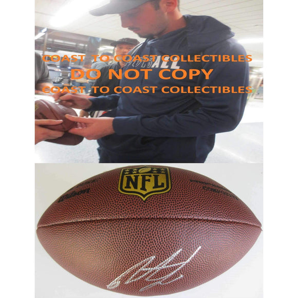 Paxton Lynch, Denver Broncos, Memphis, Signed, Autographed, NFL Duke Football, a Coa with the Proof Photo of Paxton Signing Will Be Included with the Football
