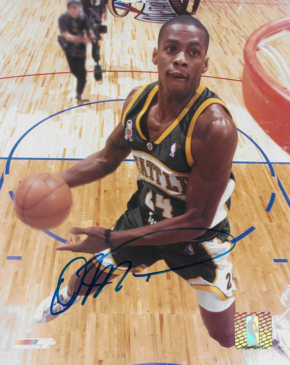 Desmond Mason signed Seattle Supersonics basketball 8x10 photo COA