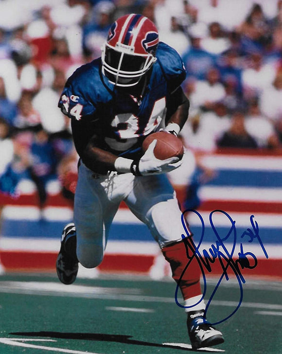 Thurman Thomas Buffalo Bills signed autographed football 8X10 photo,proof COA
