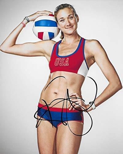 Kerri Walsh Jennings, USA Beach Volleyball player, Signed Autographed 8x10 Photo, COA with the proof photo of Kerri Signing will be included.