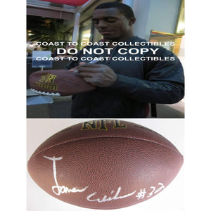 James Wilder Jr, BCS National Champion Florida State Seminoles, FSU, Signed, Autographed, NFL Football, a Coa With the Proof Photo of James Signing the Football Will Be Included