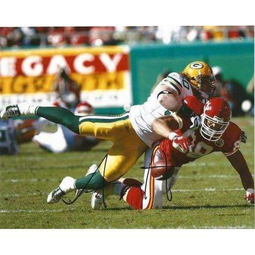Aj Hawk Green Bay Packers, Ohio State Buckeye signed, autographed 8x10 Photo - COA and proof photo