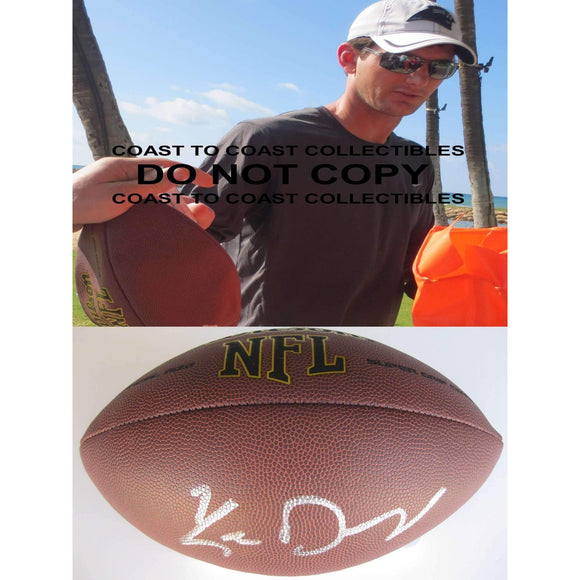 Ken Dorsey, Miami Hurricanes, Carolina Panthers, Signed, Autographed, NFL Football, a COA with the Proof Photo of Ken Signing the Football Will Be Included