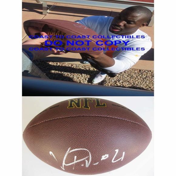 Vontae Davis Indianapolis Colts, Miami Dolphins, Signed, Autographed, NFL Football , a COA with the Proof Photo of Vontae Signing Will Be Inlcuded
