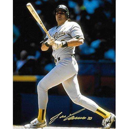 Jose Canseco, Oakland A's, Signed, Autographed, 8X10 Photo, a COA With The Proof Photo of Jose Signing Will Be Included--