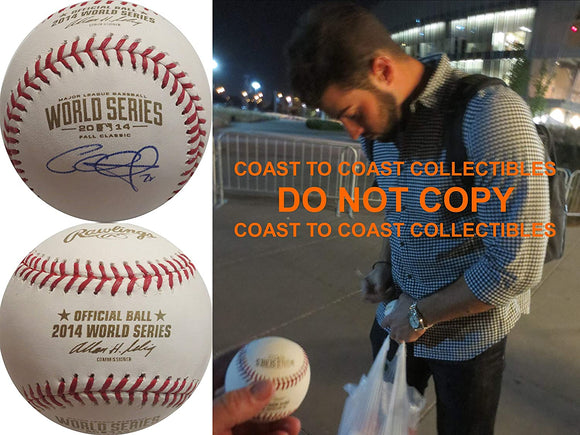 George Kontos San Francisco Giants signed World Series baseball COA exact proof