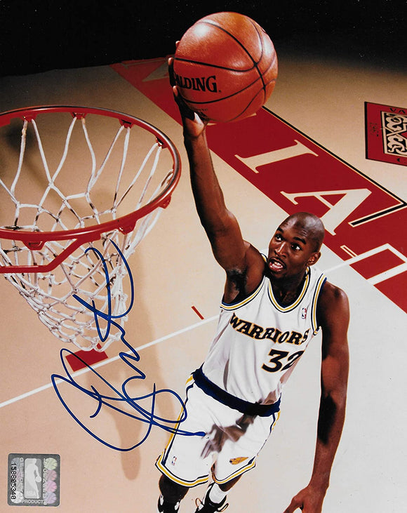 Joe Smith signed Golden State Warriors basketball 8x10 photo COA