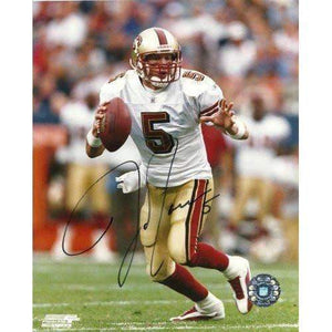 JEFF GARCIA,SAN FRANCISCO 49ERS,SAN JOSE STATE,SIGNED,AUTOGRAPHED,8X10 PHOTO,COA, RARE HARD PHOTO TO FIND