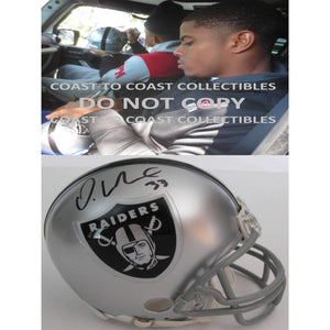 DeAndre Washington, Oakland Raiders, Signed, Autographed, Mini Helmet, a COA with the Proof Photo of DeAndre Signing the Helmet Will Be Included