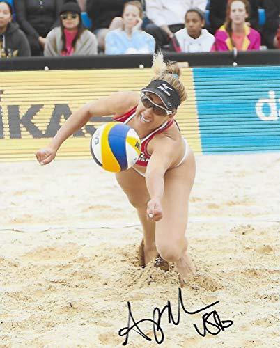 April Ross, USA Olympic, Volleyball Player, signed, autographed, 8x10, Photo, COA with the proof photo will be included