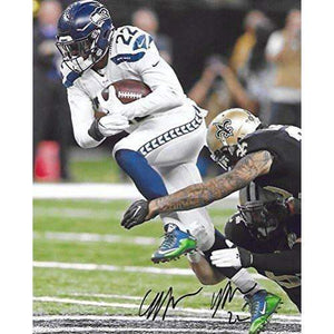 CJ Prosise Seattle Seahawks, Authentic, Signed, Autographed, 8X10 Photo,