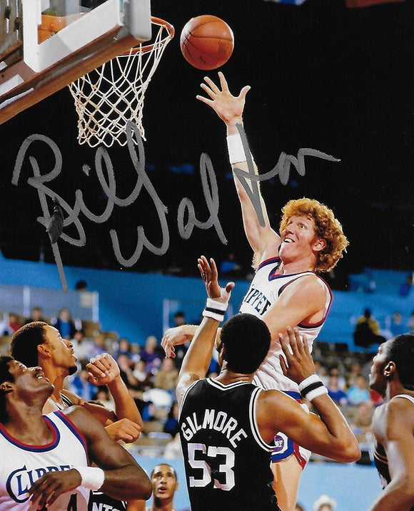 Bill Walton Los Angeles Clippers signed, autographed Basketball 8x10 photo. exact proof COA