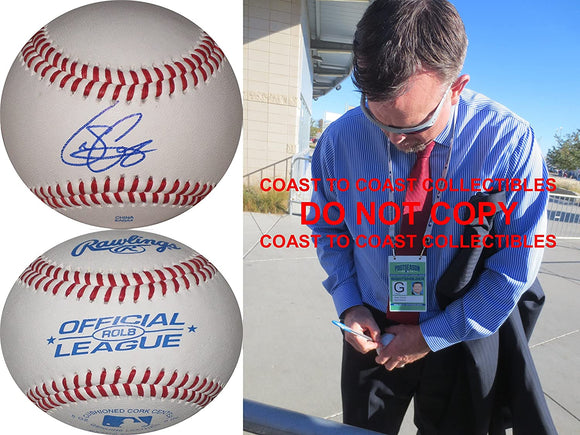 Sean Casey Cincinnati Reds Boston Red Sox signed autographed baseball COA proof