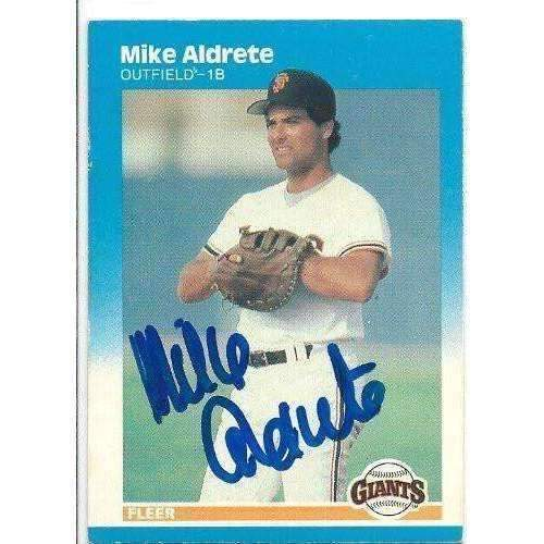 1987, Mike Aldrete, San Francisco Giants, Signed, Autographed, Fleer Baseball Card, Card # 264,