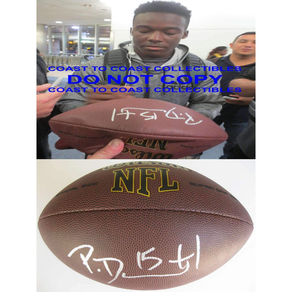 Phillip Dorsett Indianapolis Colts, Miami, Signed, Autographed, NFL Football , a COA with the Proof Photo of Phillip Signing Will Be Inlcuded