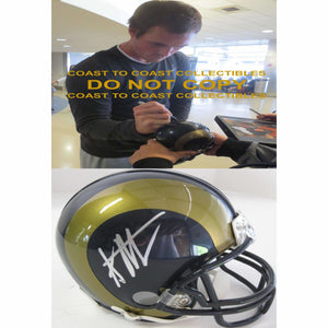 Sean Mannion St. Louis Rams, Signed, Autographed, Mini Helmet, a COA with the Proof Photo of Sean Signing Will Be Included