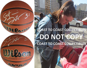 Stefanie Dolson UConn Huskies signed autographed NCAA basketball COA exact proof