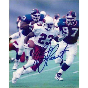 Garrison Hearst, Arizona Cardinals, Cincinnati Bengals, San Francisco 49ers, Niners, Georgia Bull Dogs, Signed, Autographed, 8x10 Photo,coa, Rare Hard Photo to Find