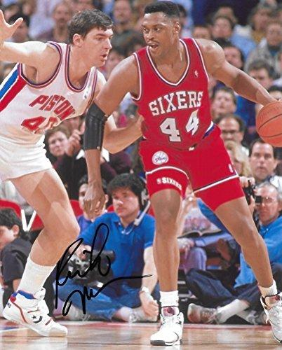 Rick Mahorn, Philadelphia 76ers, Signed, Autographed, Basketball 8X10 Photo, a Coa Will Be Included