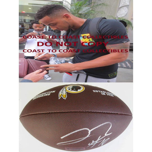 Josh Doctson, Washington Redskins, Signed, Autographed, NFL Logo Football, a COA with the Proof Photo of Josh Signing Will Be Included with the Football-