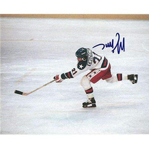 Mike Eruzione,1980 Lake Placid Winter Olymics, Usa, Gold, Signed, Autographed, Hockey 8x10 Photo, a Coa with the Proof Photo of Mike Signing Will Be Included