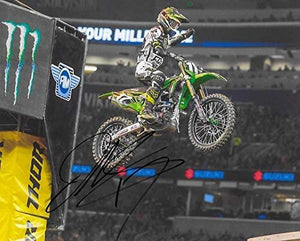 Joey Savatgy supercross motocross signed autographed Monster 8x10 photo. COA proof