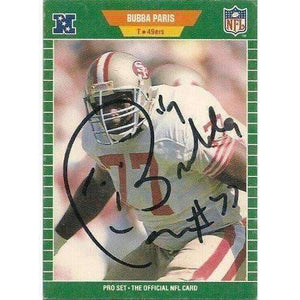 1989, Bubba Parris, San Francisco 49ers, Signed, Autographed, Pro Set Football Card, Card # 387,