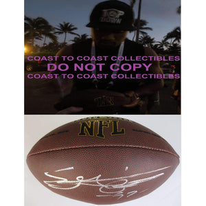 Everson Griffen Minnesota Vikings, USC Trojans, Signed, Autographed, NFL Football, a COA with the Proof Photo of Everson Signing Will Be Included