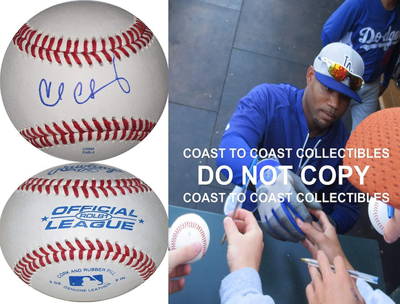 Carl Crawford Rays Boston Red Sox LA Dodgers signed autographed baseball proof