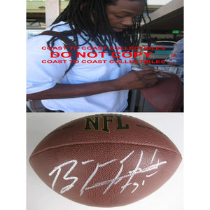 Brandon Meriweather Washington Redskins, Chicago Bears, Miami Hurricanes signed autographed football