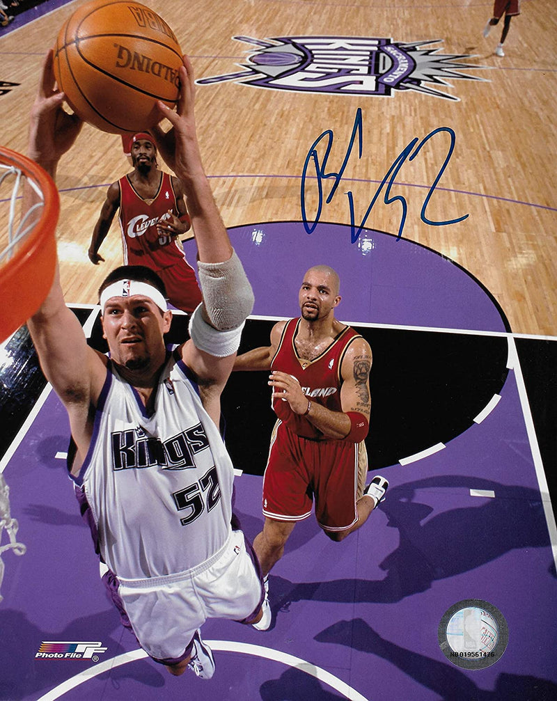Brad Miller signed Sacramento Kings basketball 8x10 photo COA