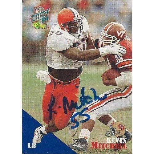 1994, Kevin Mithcell, San Francisco 49ers, Syracuse, Signed, Autographed, Classic Football Card, Card # 67,