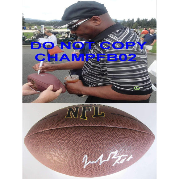 Jacob Green Seattle Seahawks, Texas A&m,signed,autographed,NFL Football,proof COA