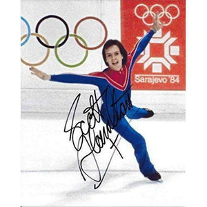 Scott Hamilton, Figure Skater, Olymics, Usa, Gold, Signed, Autographed, Hockey 8x10 Photo, a Coa with the Proof Photo of Scott Signing Will Be Included