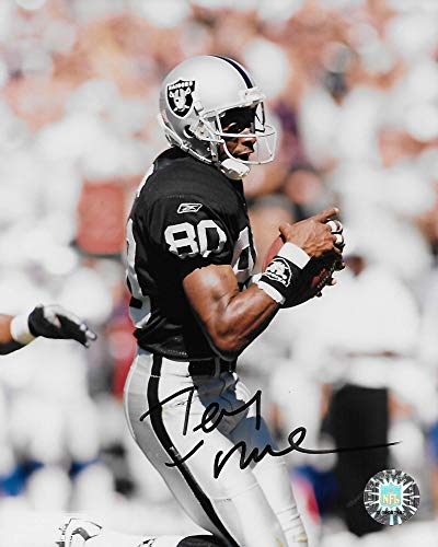 Jerry Rice Oakland Raiders signed autographed football 8x10 Photo.proof COA