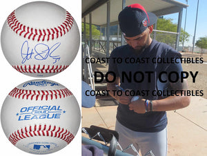 Danny Salazar Cleveland Indians signed autographed baseball COA exact proof