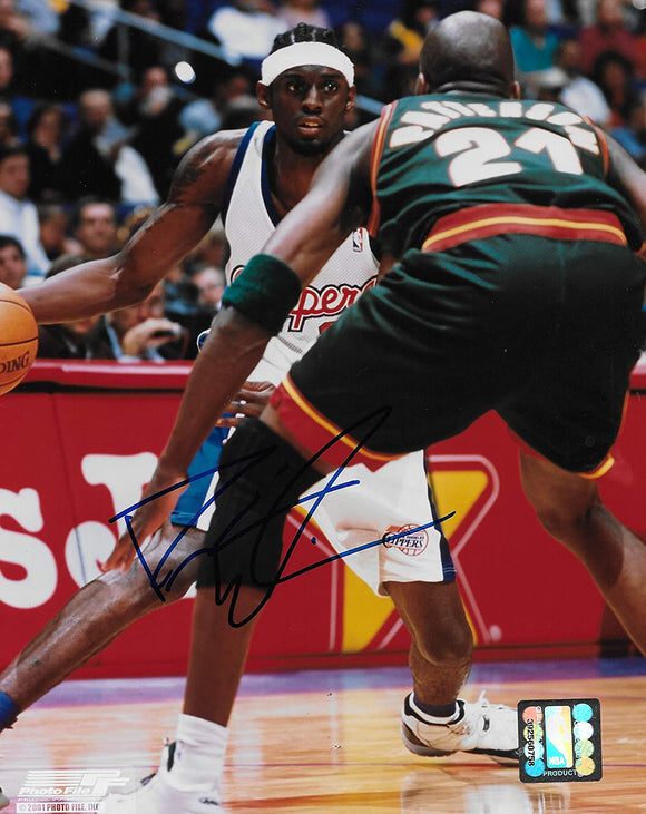 Darius Miles signed Los Angeles Clippers basketball 8x10 photo COA-