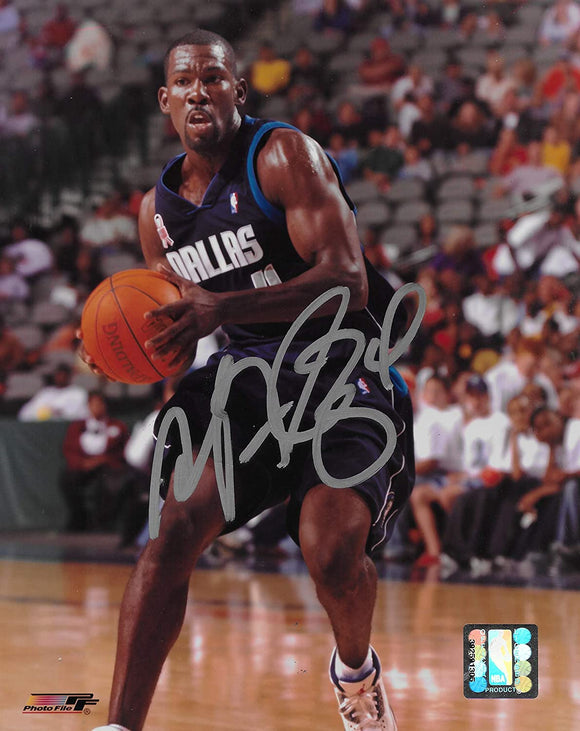 Michael Finley signed Dallas Mavericks basketball 8x10 photo COA.