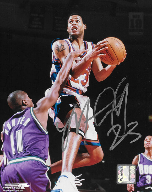 Marcus Camby signed New York Knicks basketball 8x10 photo COA.