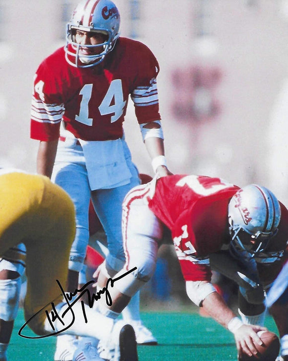Jack Thompson Washington State Cougars signed autographed 8x10 Photo. proof COA