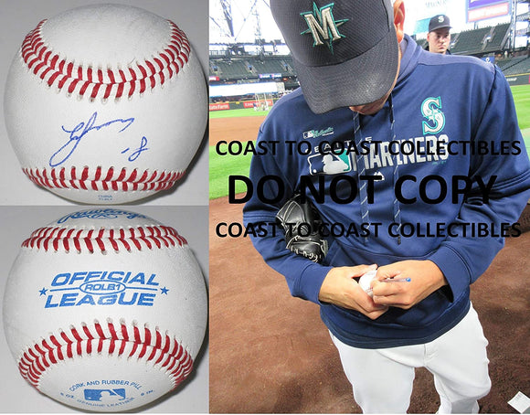 Yusei Kikuchi Seattle Mariners Japan signed autographed baseball COA exact proof