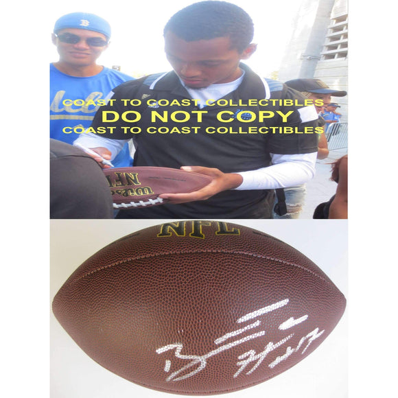 Brett Hundley, Green Bay Packers, UCLA Bruins, signed, autographed, NFL football - COA with proof
