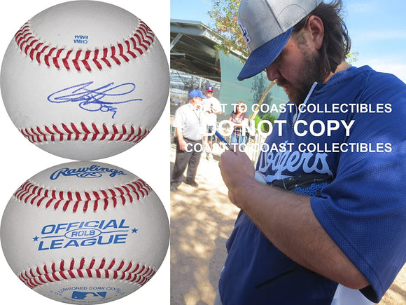 Chris Perez Cleveland Indians LA Dodgers signed autographed baseball COA proof