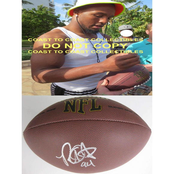 Robert Quinn, St. Louis Rams, Rams, North Carolina, Tar Heels, Signed, Autographed, NFL Football, a COA with the Proof Photo of Robert Signing Will Be Included