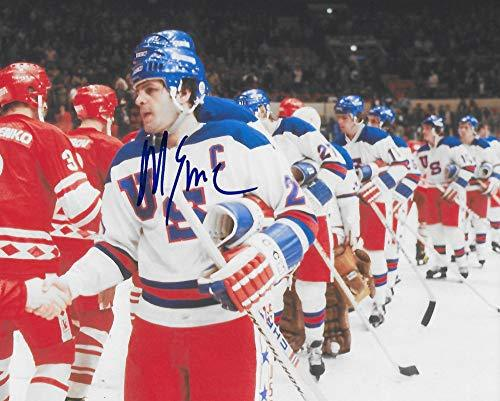 Mike Eruzione,1980 Lake Placid Winter Olymics, Usa Gold, signed, autographed, Hockey 8x10 Photo, Coa with the Proof Photo will be included.