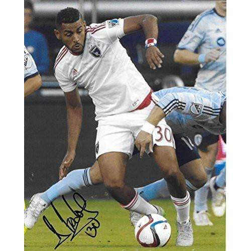 Anibal Godoy, San Jose Earthquakes, Panama, signed, autographed, soccer 8x10 photo - COA and proof