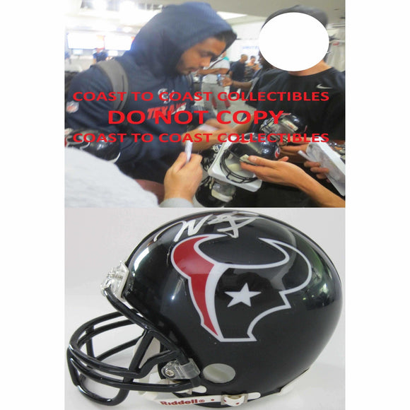 Will Fuller Houston Texans, Signed, Autographed, Mini Helmet, a COA with the Proof Photo of Will Signing Will Be Included