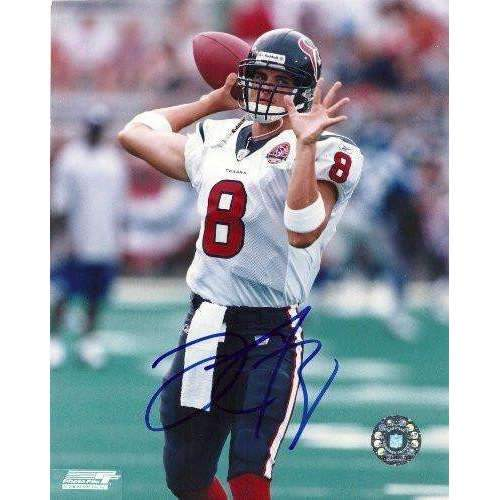 David Carr, Houston Texans, Fresno State Bulldogs, Signed, Autographed, 8x10 Photo, Coa, Rare Hard Photo to Find