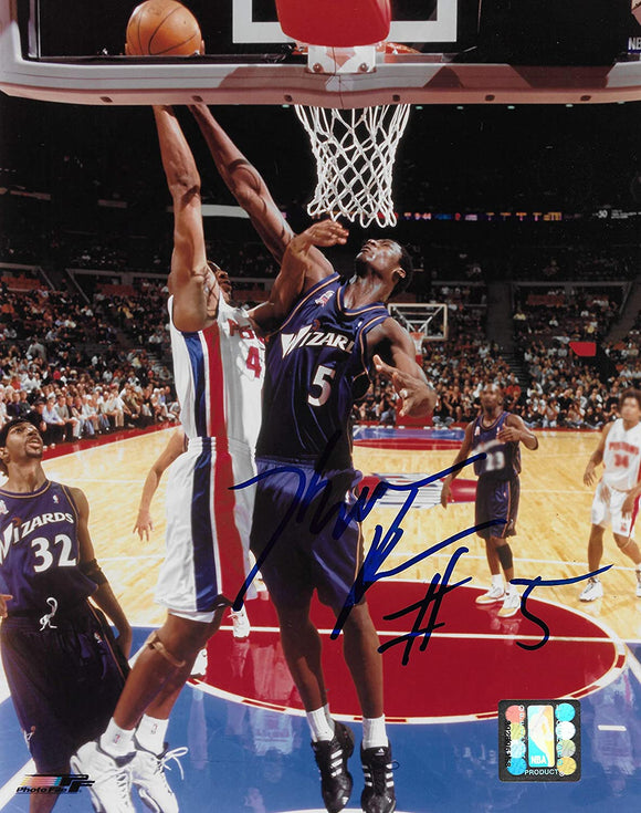 Kwame Brown Washington Wizards signed basketball 8x10 photo COA